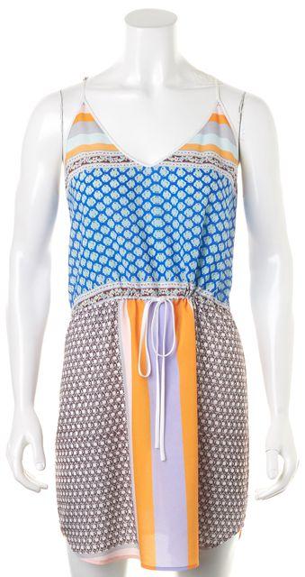 CLOVER CANYON Multi-color Spaghetti Strap Geometric Blouson Dress