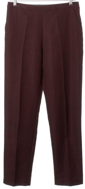 CLOVER CANYON Dark Burgundy Red High Rise Slim Leg Dress Pants