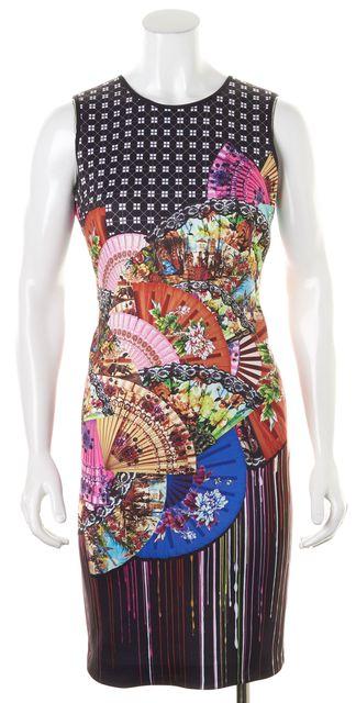CLOVER CANYON Multi-Color Abstract Cutout Back Sheath Dress