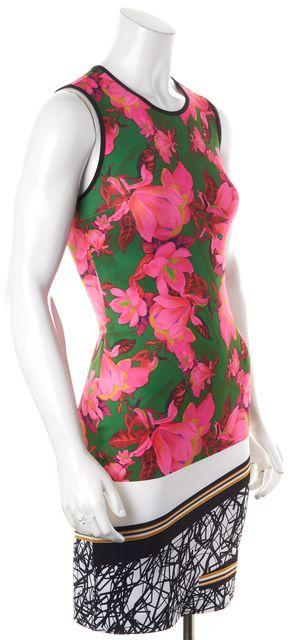 CLOVER CANYON Green Pink White Floral Bodycon Dress