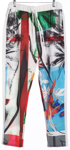 CLOVER CANYON Multi-color Tropical Abstract Print Casual Pants