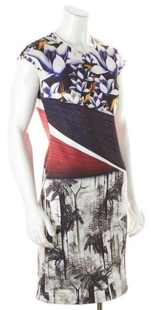 CLOVER CANYON Multi-color Sleeveless Invisible Zip Graphic Bodycon Dress