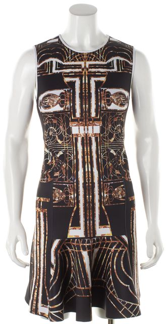 CLOVER CANYON Multi-color Abstract Fit & Flare Dress
