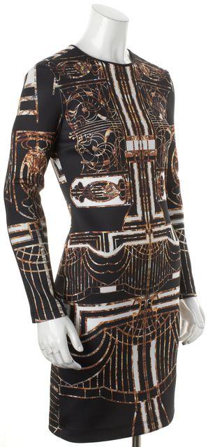CLOVER CANYON Black Abstract Long Sleeve Bodycon Dress