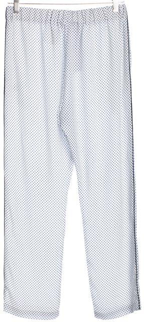 CLOVER CANYON White Blue Polka Dot Elastic Casual Pants