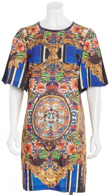CLOVER CANYON Multi-color Short Sleeve Crew Neck Floral Shirt Dress