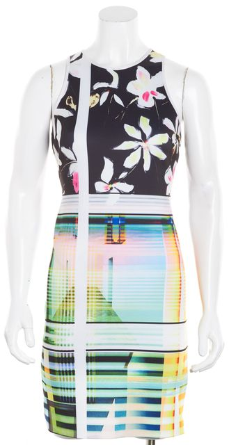 CLOVER CANYON Multi-color Abstract Floral Sheath Dress