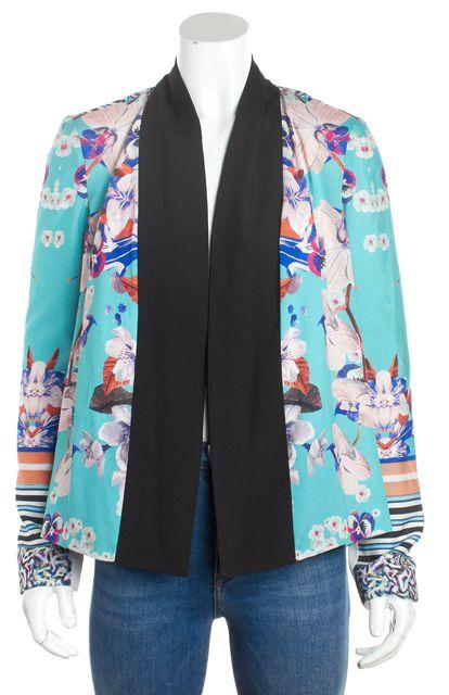 CLOVER CANYON Multi-color Floral Abstract Blazer