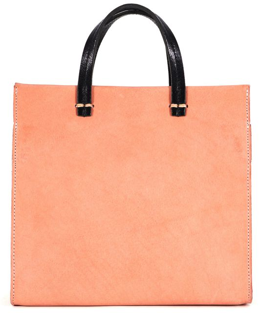 CLARE V. Dusty Pink Leather Structured Crossbody Top-Handle Bag