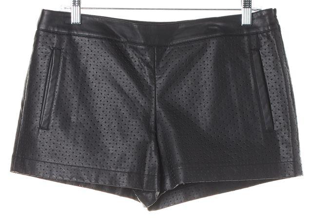 CLUB MONACO Black Perforated Mini Shorts