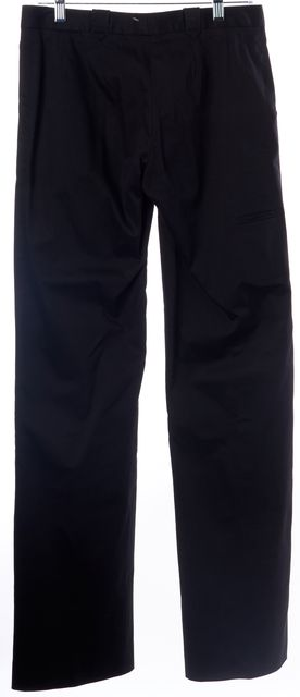 COSTUME NATIONAL Black Stretch Cotton Trouser Dress Pants