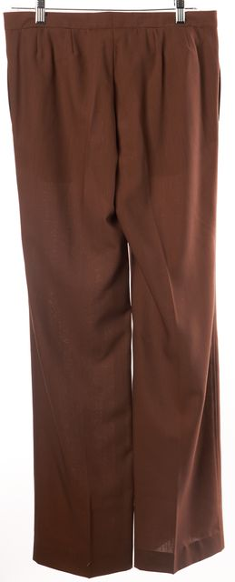 COSTUME NATIONAL Brown Wool Pleated Trouser Dress Pants