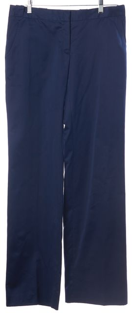 COSTUME NATIONAL Navy Blue Cotton Blend Trouser Dress Pants
