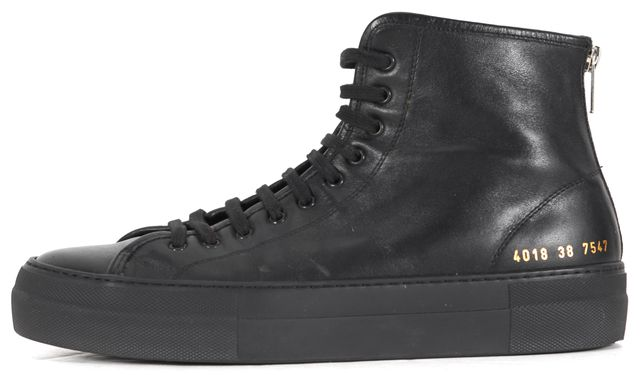 COMMON PROJECTS Black Leather High-Top Sneakers