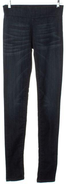 CURRENT ELLIOTT Blue Bird Dark Wash Stretch Denim Pull Up Legging Jeans