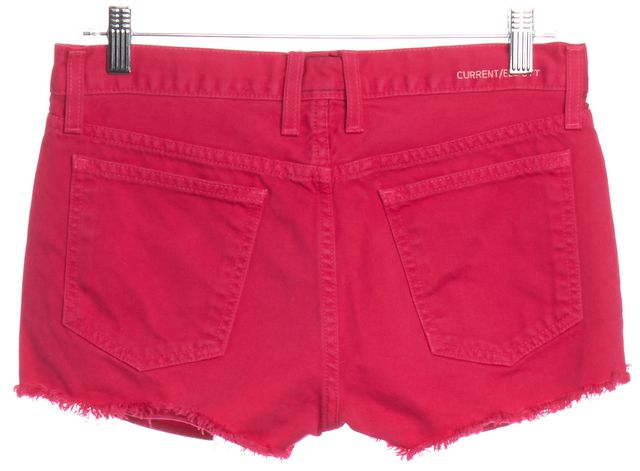 CURRENT ELLIOTT Hot Pink Denim Cut Off Shorts