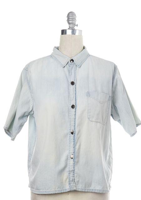 CURRENT ELLIOTT Sun Bleach Blue Costa Short Sleeve Shirt