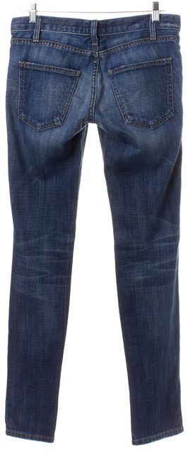 CURRENT ELLIOTT Blue Medium Wash Distressed Slim Fit Jeans