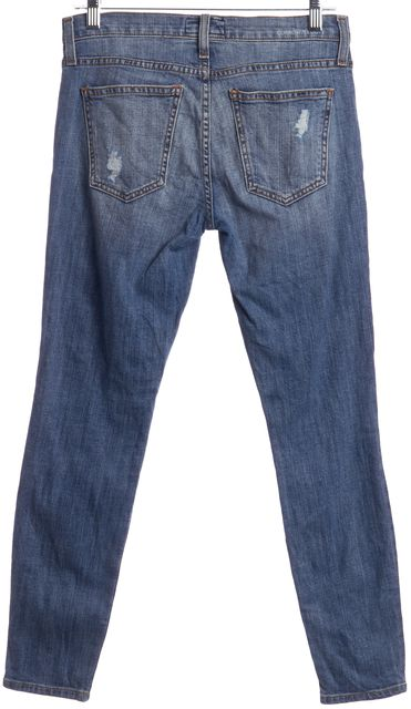 CURRENT ELLIOTT Blue The Stiletto Distressed Skinny Slim Fit Jeans