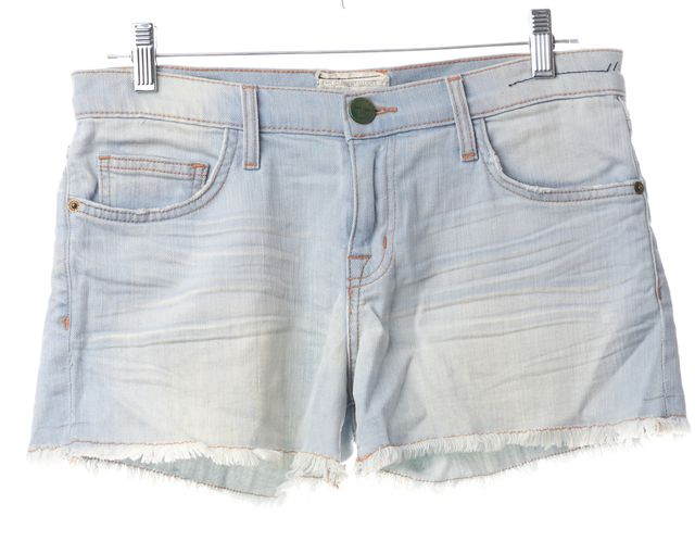 CURRENT ELLIOTT Light Blue Wash Mini GirIfriend Short Shorts