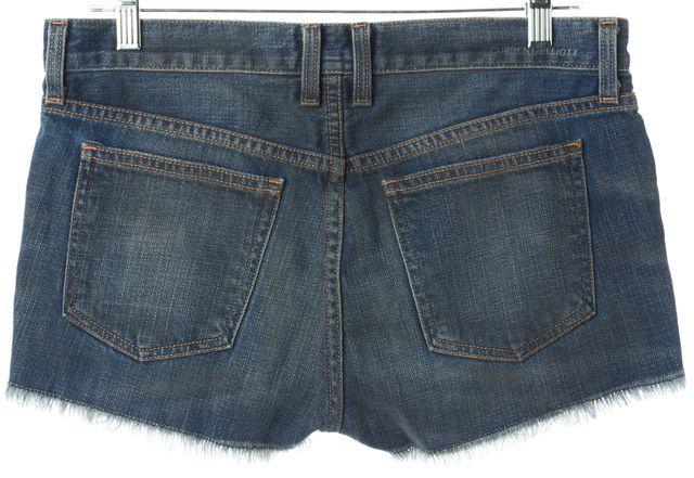 CURRENT ELLIOTT Blue The Boyfriend Brass Stud Denim Shorts