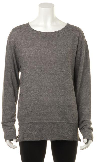 CURRENT ELLIOTT Gray The Stadium w/ Zip Sweatshirt Top