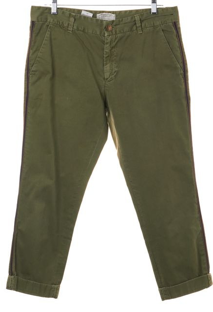 CURRENT ELLIOTT Army Green The Buddy Trouser Jeans