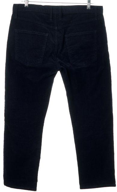 CURRENT ELLIOTT Navy Blue Cotton Slim Straight Leg Cropped Corduroys Pants