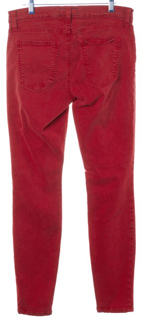 CURRENT ELLIOTT Red The Ankle Skinny Cheville Skinny Jeans