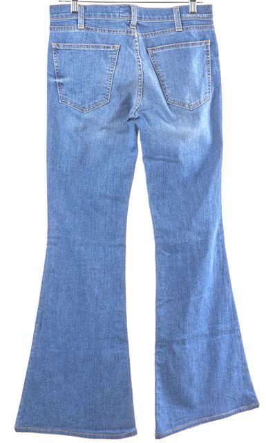 CURRENT ELLIOTT Light Blue Slim 1970s Low Rise Bell Flare Jeans
