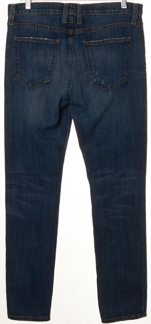 CURRENT ELLIOTT Blue Loved The Rendezvous Mid-Rise Straight Leg Jeans