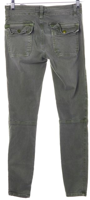 CURRENT ELLIOTT Army Green The Conductor Mid-Rise Cargo Skinny Jeans