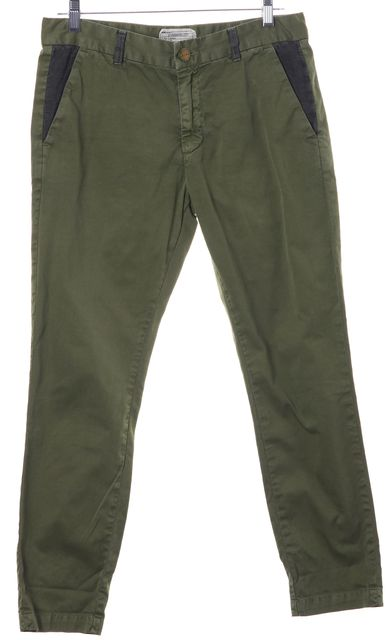 CURRENT ELLIOTT Fatigue Green The Buddy Trousers Pants