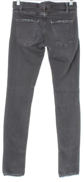 CURRENT ELLIOTT Gray The Skinny Grey Ink Slim Fit Jeans