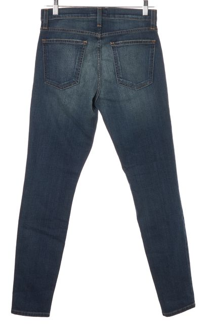 CURRENT ELLIOTT Blue The High Waist Ankle Skinny Jeans