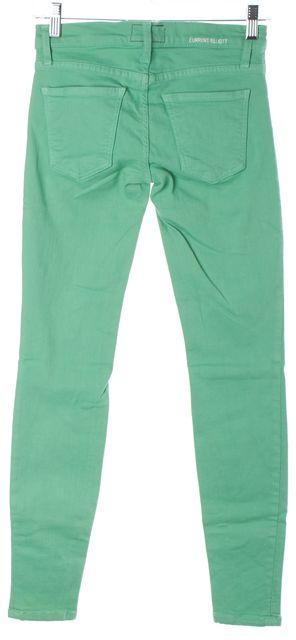 CURRENT ELLIOTT #1393-0465 Winter Green Skinny Jeans