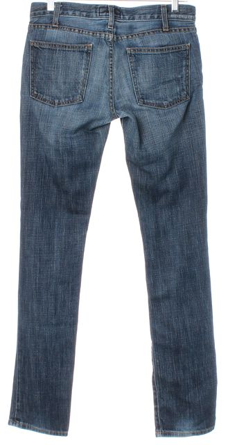 CURRENT ELLIOTT Blue Moody Stretch Cotton Straight Leg Jeans