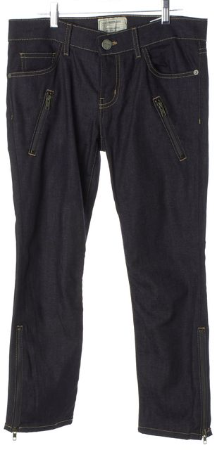 CURRENT ELLIOTT Blue Straight Leg Jeans