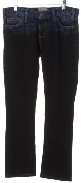 CURRENT ELLIOTT Black Blue Ombre Straight Leg Jeans