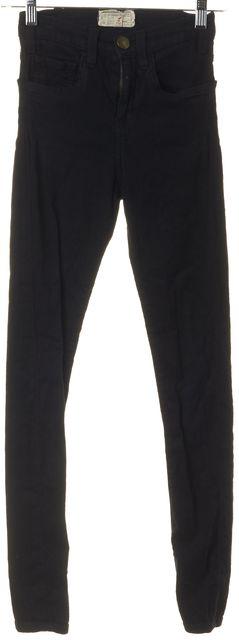 CURRENT ELLIOTT Jet Black Overdye High-Rise Legging Jeans