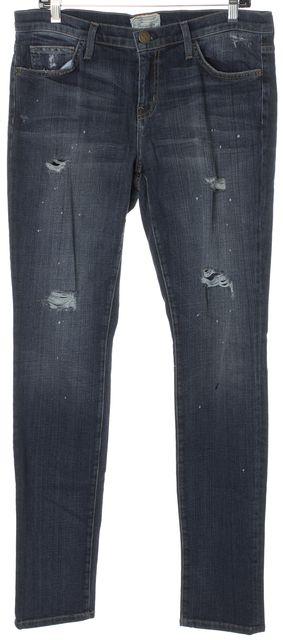 CURRENT ELLIOTT Blue Distressed Skinny Jeans