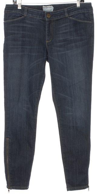 CURRENT ELLIOTT Blue Bluebird Cropped Legging Long Zip Slim Fit Jeans