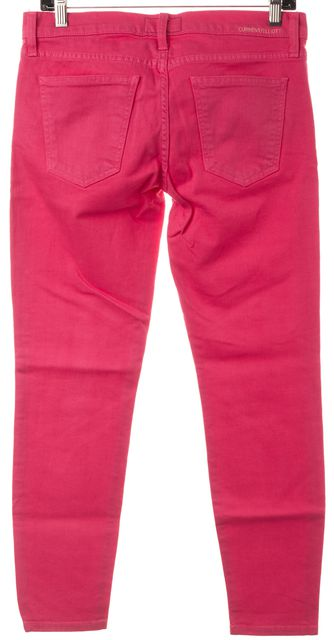 CURRENT ELLIOTT Faded Rose Pink Stiletto Cropped Skinny Jeans