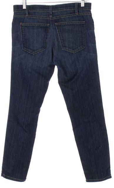 CURRENT ELLIOTT Blue Dark Wash Stretch Denim Skinny Jeans