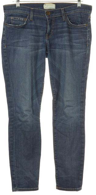 CURRENT ELLIOTT Blue The Stiletto Townie Whiskered Slim Fit Jeans