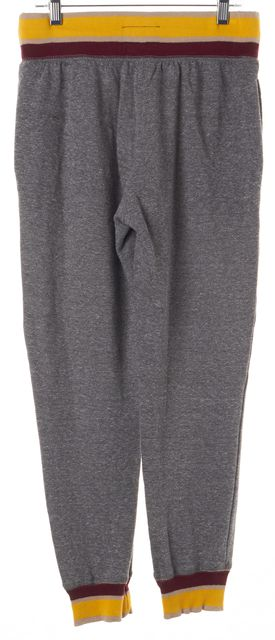 CURRENT ELLIOTT Heather Gray W/ Stripe The Cropped Sweat Pants