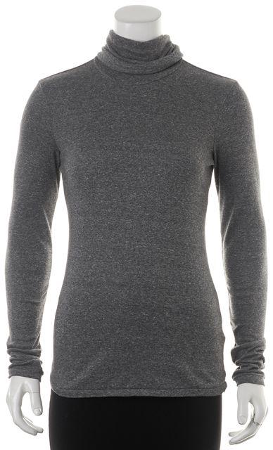 CURRENT ELLIOTT Gray Turtleneck Sweater