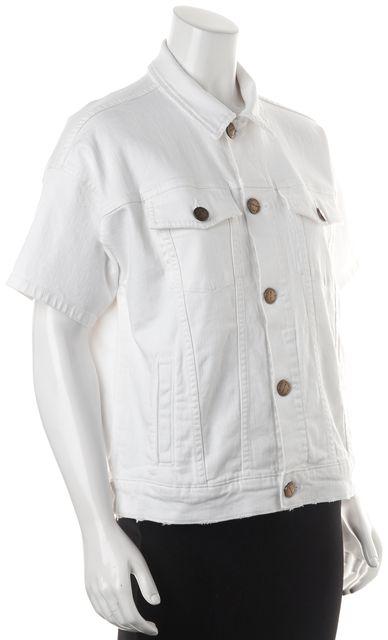 CURRENT ELLIOTT White Short Sleeve Jean Jacket