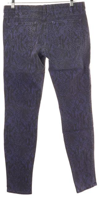 CURRENT ELLIOTT Purple Snake Print Skinny Jeans