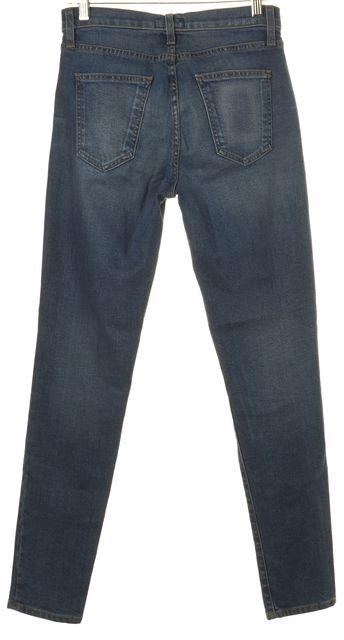 CURRENT ELLIOTT Blue Medium Wash Soft Skinny Jeans
